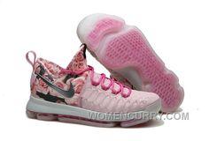 buy online 75293 bf9f9 Nike KD 9 Pink Black Aunt Pearl Flora Mens Basketball Shoes Discount ERsdZb