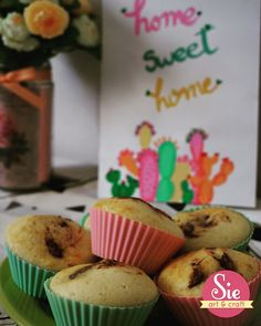 Sie - Art & Craft: Home sweet home ♥ Are You Happy, Sweet Home, Arts And Crafts, Make It Yourself, Breakfast, Desserts, Muffins, Amp, Food