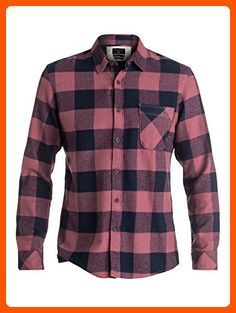 Quiksilver Men's Motherfly Flannel Shirt, Motherfly Wild Ginger, Large -  Mens world (*