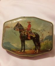 Decorative Horner Candy Tin 1940s Candian Mountie