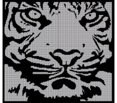 White Tiger Crochet Pattern Afghan Graph, $5.00... Pattern now available in MS Excel Format for easier following. More patterns available soon in this easier format!!!