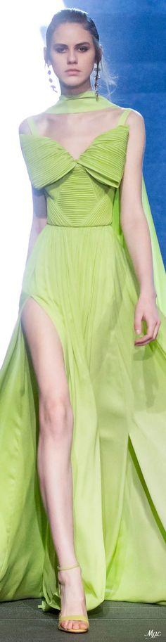 Fall 2021 RTW Elie Saab Green Fashion, High Fashion, Fashion Show, Fashion Design, Women's Fashion, Elie Saab Fall, Elie Saab Couture, Ellie Saab, Rainbow Fashion