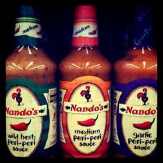 South Africa's famous Nando's sauces
