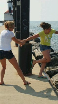 Crazy posing photos with best friend