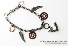 My Steampunk Revolution Charm Bracelet by thesugartoothdragon, $18.00