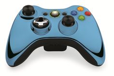 Custom Xbox 360 Controller Wireless Glossy Pastel Blue- Without Mods