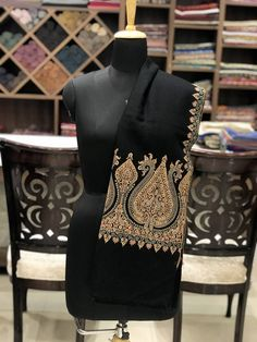 Playing With Embroideries Since 1992 by AngadCreations Kashmiri Suits, Kashmiri Shawls, Cashmere Wrap, Cashmere Shawl, Embroidery Saree, Hand Embroidery, Velvet Shawl, Indian Men Fashion, Embroidery Suits Design