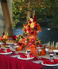 I love the idea of a fall, Snow White theme at this cider mill! It's beautiful and natural without being country.
