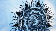 Original Art Silkscreen Sun Mandala on upcycled t-shirt, White, Large. $17.00, via Etsy.