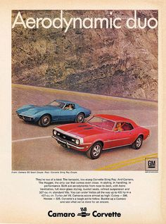1968 Chevrolet Camaro SS Sport Coupe & Corvette Sting Ray    it doesn't get much better