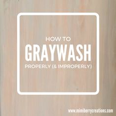 Who knew that whitewashing / graywashing (or any color washing) only needs 1/2…