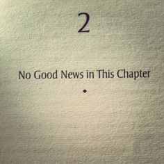 excelente capitulo - No Good News in This Chapter, The Wind-Up Bird Chronicle