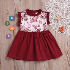 Flower Forever Elegant Maroon Princess Dress from kidspetite.com! Adorable & affordable baby, toddler & kids clothing. Shop from one of the best providers of children apparel at Kids Petite. FREE Worldwide Shipping to over 230+ countries ✈️ www.kidspetite.com #girl #dresses #clothing #toddler