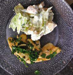 Fischfilets mit Salat  Freunde am Kochen