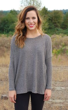 Over The Part Sweater-Grey #basics #new #sweaters