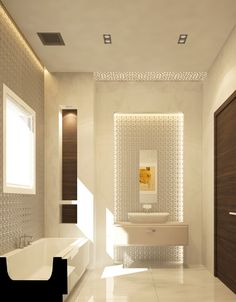 MASTER TOILET ROOM  Lighted Niche At End Of Sightline Into MBR (will Be In  Closet;