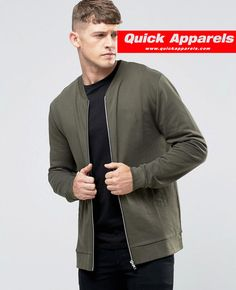 http://www.quickapparels.com/jersey-bomber-jacket-with-chest-print-in-khaki.html