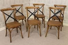 timber cross back chair - Google Search