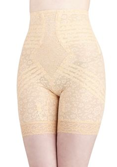 Elegant Underpinnings Contouring Shorts in Peach. Gorgeous gals know that beauty goes beyond dazzling dresses and chic skirts - fashion starts with a confident air, a stunning smile, and a foundation of fantastic undergarments!Celebrate your fabulous, feminine figure with these peach shorts by Rago, who has been producing its singular shapewear since 1945. #cream #modcloth