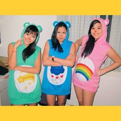 Not a Crowd, It's a Party: These Trio Halloween Costumes Prove It Pin for Later: 3 of a Kind: 21 Trio Costumes to Wear With Your Best Friends Care Bears 3 Girl Halloween Costumes, Bear Halloween, Cute Costumes, Costume Ideas, Group Costumes For Girls, Happy Halloween, Zombie Costumes, Halloween Couples, Family Costumes