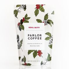berry and leaf motif coffee bag Coffee Label, Coffee Logo, Coffee Branding, Coffee Packaging, Chocolate Packaging, Espresso Coffee, Coffee Shop, Food Packaging Design, Packaging Design Inspiration