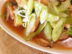 鳥肉と青梗菜の中華煮