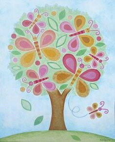 Dress up a bare wall with the Butterfly Tree Canvas Wall Art from Oopsy Daisy. Canvas wall art is perfect for adding color and style to bedrooms, playrooms, nurseries and even bathrooms! Baby Wall Art, Tree Wall Art, Art Wall Kids, Art For Kids, Butterfly Tree, Butterfly Painting, Butterflies, Butterfly Kisses, Tree Canvas