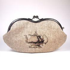 Eyeglass case - Victorian teapot / Eyewear case/ Smartphone case/ - by Elevenroosters on madeit