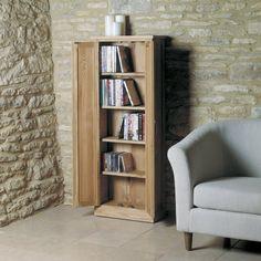 Mobel Solid Oak DVD Storage Cupboard -  - DVD/CD Storage - Baumhaus - Space & Shape - 2