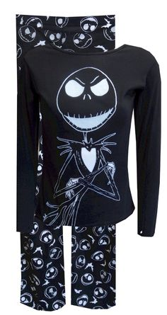Nightmare Before Christmas Jack Skellington Pajama, $38 Calling all Jack Skellington fans...these are the jammies you have been waiting for! This pajama features a logo design on the top and an all over print on the pant. The best part? They are glow in the dark once they have been exposed to the light! You never know when that could be handy... Junior cut. Totally awesome!