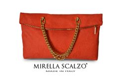 Pochette medium in pelle ricamata Mirella Scalzo - Available on modainlinea.com