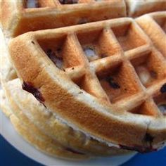 Nutty Pecan Waffles | Serve with warmed syrup and cinnamon sugar.