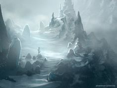 Mountain Castle by Jereme Peabody (the artist who did the cover illustrations for my brother's SF novels)