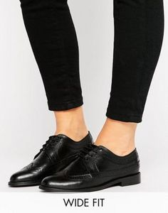 ASOS MAI Wide Fit Leather Brogues