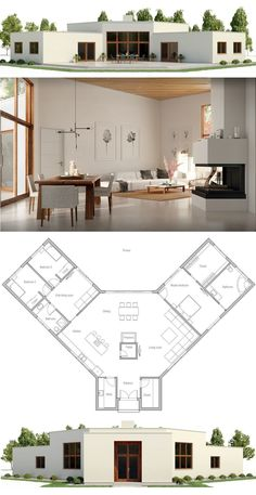 House Plan 2017 #modernhomeblueprints