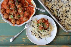 Moroccan meatballs and cauliflower couscous