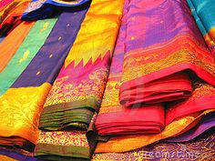 Colorful Indian Sarees by Amruta Bangad, via Dreamstime