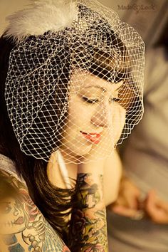 ideas we like @ seventysixdesign custom Jewellers Rockabilly Wedding Dresses, Rockabilly Fashion, Wedding Bridesmaid Dresses, Brides With Tattoos, Tattooed Brides, Rock And Roll, Alternative Bride, Bride Hair Accessories, Wedding Hair And Makeup