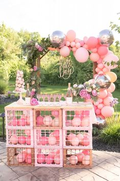 25 Most Interesting DIY Event Decor Ideas : Make Your Events More Attractive. Balloon Decorations, Birthday Party Decorations, Baby Shower Decorations, Party Themes, Ideas Party, Balloon Ideas, 14 Birthday Party Ideas, Pink And Gold Birthday Party, 30th Party