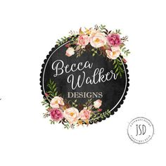 Chalkboard Logo Design-Boutique Logo-Small Business Logo-Photographer Logo