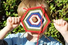 """Wool Spider web a """"classic"""" craft for Fall."""