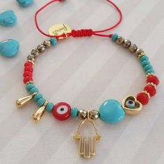 """57 Me gusta, 5 comentarios - Franchesca by Francy Rodriguez (@franchescajewels) en Instagram: """"We started with the new bracelet designs !!. This beautiful bracelet with turquoise heart and…"""""""