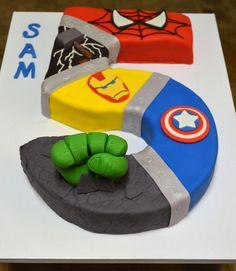 Number 5 Super Hero Cake More