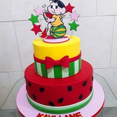Bolo Laura, Island Theme Parties, Bolo Fack, 1st Bday Cake, Watermelon Birthday Parties, Fake Cake, Fiesta Party, Themed Cakes, Amazing Cakes
