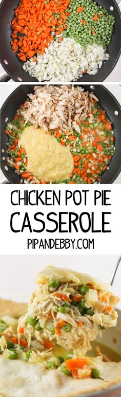 Chicken Pot Pie Casserole - this is SO GOOD and such an easy weeknight recipe. Comfort food at its best!