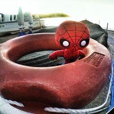"""BayWatch Mitch Buchannon Spider Man    """"Spideruccio baywatch #igersitalia_swspidermantour #igersmarche #igersitalia #igersancona #spiderman #conero #portonovo #beatch #spiaggia"""" #amazingspiderman"""