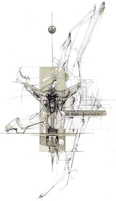 """Dan Slavinsky, architectural concept renderings. """"A Series of Drawings from the End of Time Bartlett""""."""