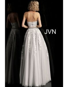 Turn heads in this trendy two piece JVN by Jovani dress This fashion forward style has a lace crop top with a high neck which is embellished w. Embellished Belt, Jovani Dresses, Perfect Prom Dress, Lace Crop Tops, Two Pieces, A Line Skirts, Dresses For Sale, Fashion Forward, High Fashion
