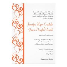 ReviewCoral Double Hearts Swirls Wedding Invitationstoday price drop and special promotion. Get The best buy