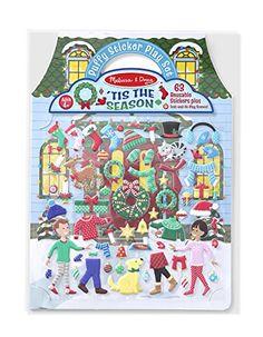 Melissa & Doug Puffy Sticker Activity Book: 'Tis the Season - 63 Reusable Stickers //Price: $7.26 & FREE Shipping //